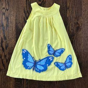 Mini Boden Butterfly Applique Dress sz 5-6 yr